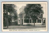 Niagara Falls NY, Rose Cottage, New York,Vintage Postcard Z59