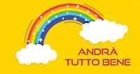 STRISCIONE Andrà tutto bene Italia BANNER PVC OCCHIELLI BANDIERA BALCONE 50x100