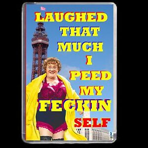 MRS BROWNS BOYS FRIDGE MAGNET ADULT JOKE ACRYLIC NOVELTY GIFT  DVD