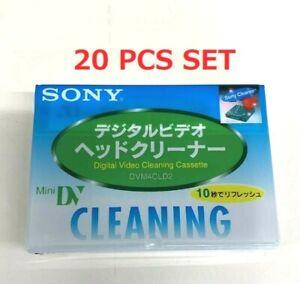 SONY 20 PCS Set  DVM4CLD2 Mini DV Digital Video Cleaning Cassette From Japan