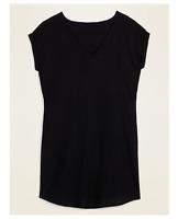 Old Navy V-Neck Button-Back Shift Dress for Women Black Size M #551859