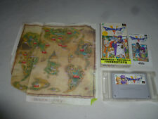 BOXED SUPER FAMICOM GAME DRAGONQUEST V W BOX MANUAL MAP JAPAN COMPLETE SNES RPG