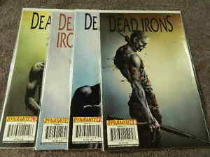 2009 DYNAMITE Entertainment DEAD IRONS #1-4 Complete WESTERN Series Set - NM/MT