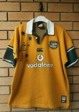Vintage Australia Wallabies Canterbury Ccc Mens Temex Rugby Jersey Size Large
