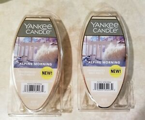 Lot of 2 Yankee Candle ALPINE MORNING Fragrance Wax Melts 2.6oz 6 Packs