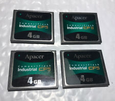 Pack Of 4 Apacer 4GB Compact Flash Card Industrial CF 5 Total 16GB Of Memory
