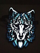 Cool Wolf Rave Full-Face Mask Flashing Sound Activated Halloween Club Costume