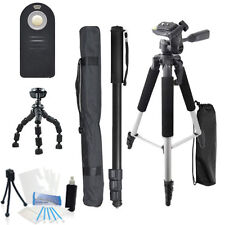 Triple Tripod Kit for Canon VIXIA HF G10 G20 G30 R40 R42 R400 R500 R52 R50 M50