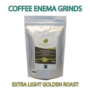 COFFEE ENEMA GRINDS EXTRA LIGHT GOLDEN ROAST GERSON AIR ROASTED ORGANIC FAIRTRAD
