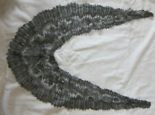 ANTIQUE FRENCH BLACK CHANTILLY LACE MOURNING COLLAR