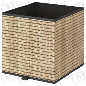 Storage Box Shelf Organiser Kallax Unit Folding Toy Clothes Books Seagrass