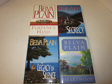 4 BELVA PLAIN Hardcover/pb ONE SIGNED lot SECRECY/HEARTWOOD/FORTUNE'S HAND +