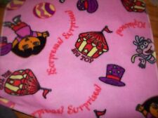 pink circus Dora the Explorer fleece embroidered personalized fleece lovey 18x30