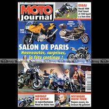 MOTO JOURNAL N°1682 DUCATI 1000 SMART HONDA DEAUVILLE BOXER BIKES MOTO TOUR 2005