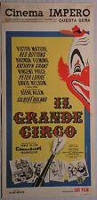 Locandina IL GRANDE CIRCO 1959 INTROVABILE!! VICTOR MATURE RED BUTTONS R.FLEMING