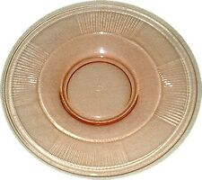 CORAL-PINK DEPRESSION GLASS PLATE  Deco  HEISEY  7""