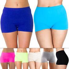 Womens Plain Boxer Sexy Hot Pants Shorts Ladies Underwear Plus Size S M L XL