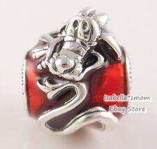 Disney Mulan Musha Authentisch Pandora Rot Drachen Charm 798632C01 Neu W Beutel