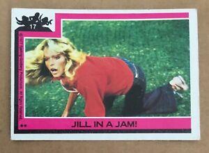 Charlie's Angels 1977 trading card Farrah Fawcett Topps vintage #17 Jill in  Jam