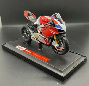 """Maisto Ducati Panigale V4 S Corse Diecast 1:18 Motorcycle Model 4.5"""" US Seller"""