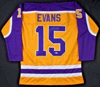 Daryl Evans Signed Los Angeles Kings Hockey Jersey (Beckett COA) Autographed NHL