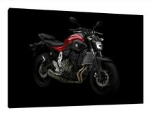 Yamaha MT-07 - 30x20 Inch Canvas Framed Picture Print Poster Wall Art