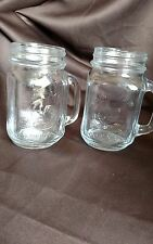 Libbey County Fair Glass Mason Drinking Jar  Rooster / Front Pair of two