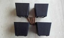 4 x 80MM BLACK TAPERED PLASTIC FURNITURE FEET/ LEGS FOR SOFA, CHAIRS, STOOLS ETC