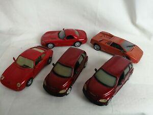 1/24 joblot 5 Cars Porsche Lamborghini Viper Pt Cruser Toys Lot Collection