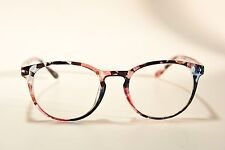 EYE BUY DIRECT MUSE FLORAL PLASTIC ROUND EYEGLASS FRAMES 48-20-136 RX NEW