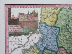1810 NICE ORIGINAL MAP RUSSIA ESTONIA LITHUANIA LATVIA FINLAND MOSCOW VILNIUS