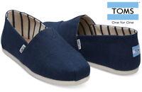 TOMS Mens Canvas Classics Slip On Espadrilles Majolica Blue Sizes UK 6 -13
