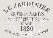 STENCIL A5 LE JARDINIER  Furniture Vintage French Shabby Chic ❤ 190 MYLAR