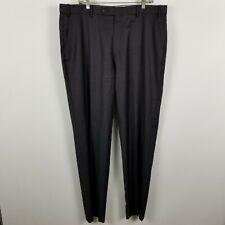 Ballin Classic Super 110's Wool Mens Flat Front Dark Gray Dress Pants Size 40x35