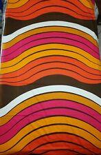 VTG Metsovaara Tampella Mid Century Wavy Pattern Fabric Cotton Curtain