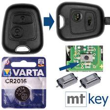 REPAIR Auto Schlüssel Gehäuse für Peugeot 206 Zündschlüssel Drucktasten Batterie