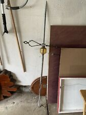 Antique Lightning Rod Weathervane w/ Arrow and Clear Amber Glass Bulb
