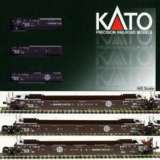 Kato HO Scale ~ Gunderson MAXI-IV Double Stack 3 Car Set BNSF Old Logo 30-9053