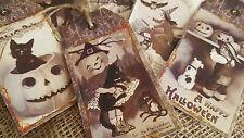 6 Happy Halloween Style Vintage étiquettes cadeau