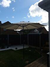 9.5ft Garden Wood Wooden Patio Parasol Sun Shade Outdoor Umbrella Canopy