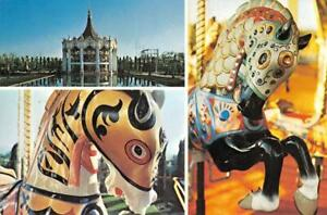 MARRIOTT'S GREAT AMERICA Carousel Plaza Amusement Park c1970s Vintage Postcard