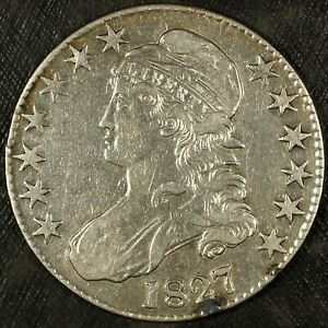 1827 Capped Bust Lettered Edge Half Dollar ☆☆ Old Cleaning ☆☆ Great For Sets 200