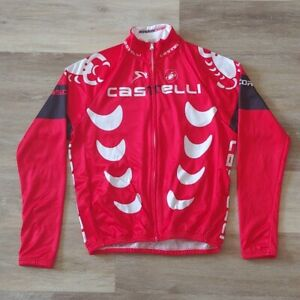 CASTELLI Rosso Corsa Full Zip Cycling Jacket Size L