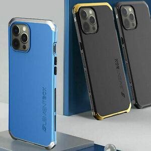 Shockproof Armor Element Metal Bumper Hybrid PC Case Cover For iPhone 12 Pro Max