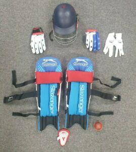 Youth Cricket Equipment Slazenger - e.g. Gloves, Ball, Shin Pads, Helmet, Bag