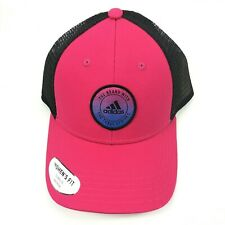 adidas Womens Notion Truckers Hat Adjustable One Size Fits Most Pink Black