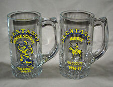 12 Oz Olentangy Middle School Scouts Glass Mug / Set of Two / INDIAN MASCOT