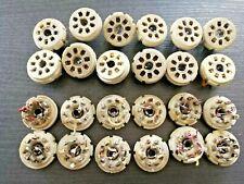 6pcs Ceramic Sockets for 8 pin Tubes, Ceramic Base for Valves