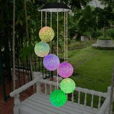 Solar LED Garden Wind Chimes Outdoor Color Changing Xmas Lights Tree Hanging