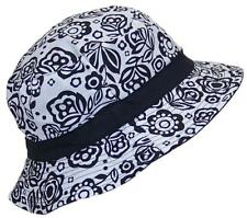 Solid Wing Reversible Summer Floppy Bucket Hat W/Hawaiian Designs #1010 Black